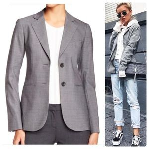 •THEORY• Rory Wool 2-Button Lined Blazer Sz 4